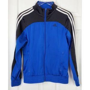 Adidas full zipper jacket size S blue black